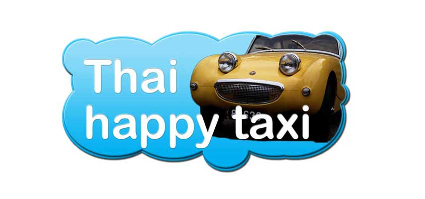 Thai Happy Taxi Bangkok taxi and tours service .