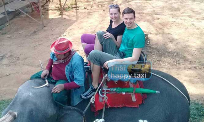 Elephant riding. Our Bangkok taxi and tours service can take you to many Elephant riding spots.