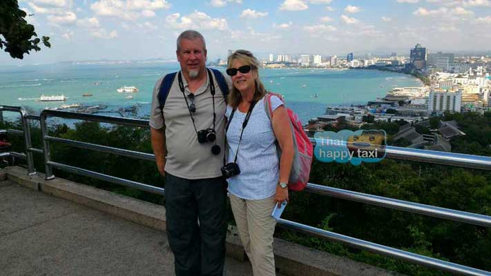 Beautiful view at Phratamnak View Point, Pattaya. About 2 hours from Bangkok with our Bangkok taxi and tours service.