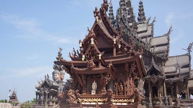 Beautiful fine art, strong as teak!  The Sanctuary of Truth